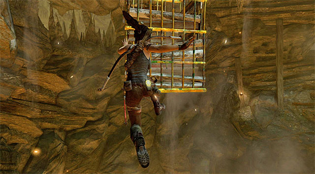 The final part of the current stage isnt too challenging - Escape the Cavern | 16: No One Left Behind Walkthrough - 16: No One Left Behind | Walkthrough - Tomb Raider Game Guide