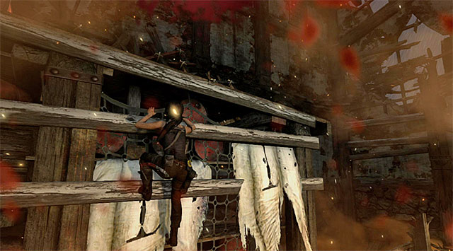 Given that one of the guards set the tower on fire, youll need to act fast - Escape the Solarii Compound | 17: Into the Fire Walkthrough - 17: Into the Fire | Walkthrough - Tomb Raider Game Guide