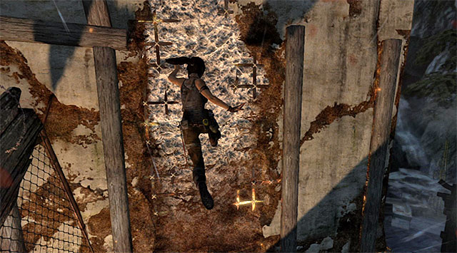 Keep running; youll have to use a horizontal beam to avoid falling - Climb the Tower | 18: Get to the Chopper Walkthrough - 18: Get to the Chopper | Walkthrough - Tomb Raider Game Guide
