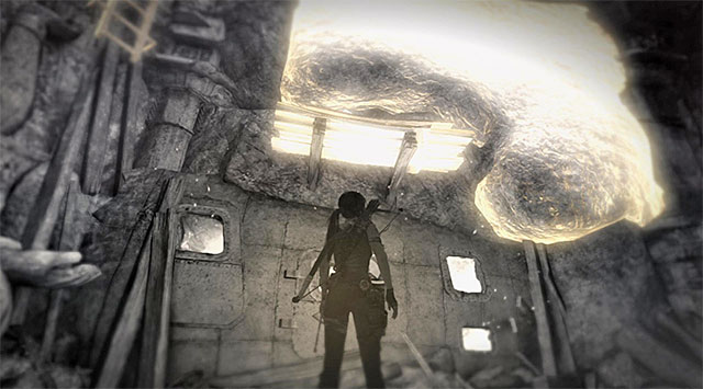 The second ramp is located between the statue and the interactive wall - Chamber of Judgment | Optional Tombs: Shantytown - Shantytown | Optional Tombs - Tomb Raider Game Guide