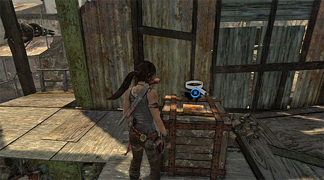 Take the Document off the crate (reward: 25 XP) - Documents | Collectibles: Shantytown - Collectibles: Shantytown - Tomb Raider Game Guide