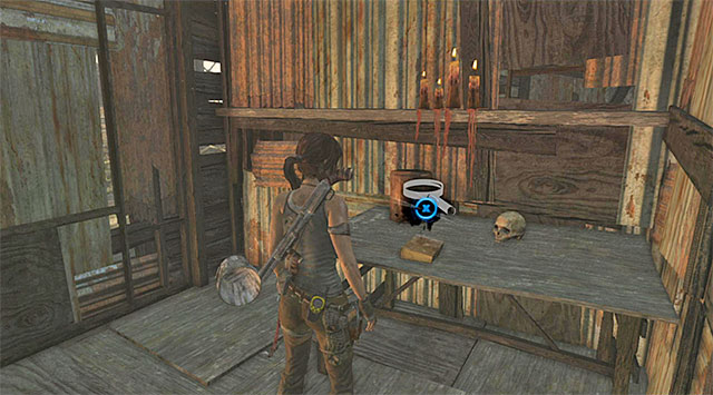 Go inside a small room and take the Document off the table (reward: 25 XP) - Documents | Collectibles: Shantytown - Collectibles: Shantytown - Tomb Raider Game Guide