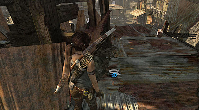 Youll find the Cache lying on one of them (reward: 5 XP) - GPS Caches (01-07) | Collectibles: Shantytown - Collectibles: Shantytown - Tomb Raider Game Guide