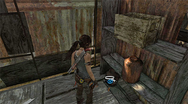 Look for the Cache on the ground (reward: 5 XP) - GPS Caches (01-07) | Collectibles: Shantytown - Collectibles: Shantytown - Tomb Raider Game Guide