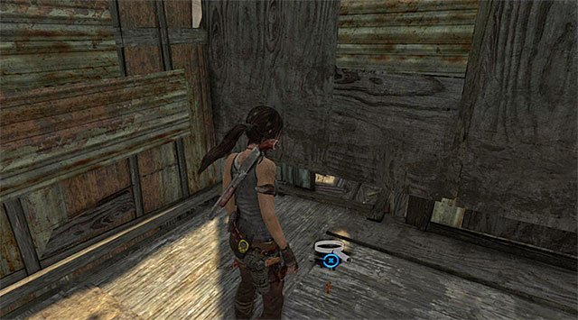 Go inside and take the Cache (reward: 5 XP) - GPS Caches (01-07) | Collectibles: Shantytown - Collectibles: Shantytown - Tomb Raider Game Guide
