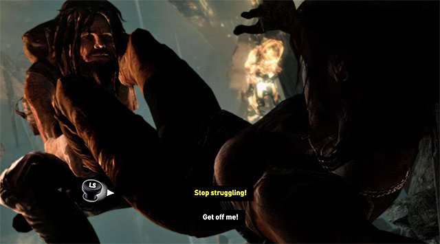 Approach the small hole so that Lara automatically crouches - Keep Moving Forward to Survive | 1: Survive Walkthrough - 1: Survive | Walkthrough - Tomb Raider Game Guide