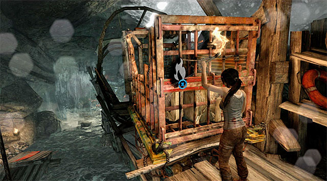 Jump down, get back on the ledges and this time stop at the second crate, pictured above - Find a Way Out | 2: Force of Will Walkthrough - 2: Force of Will | Walkthrough - Tomb Raider Game Guide