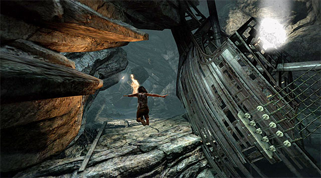Be ready to do some jumping to avoid falling into chasms - Find a Way Out | 2: Force of Will Walkthrough - 2: Force of Will | Walkthrough - Tomb Raider Game Guide