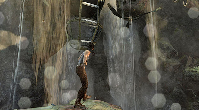Approach the wreckage and stand as indicated - Search for Traces of Other Survivors | 3: Signs of Life Walkthrough - 3: Signs of Life | Walkthrough - Tomb Raider Game Guide