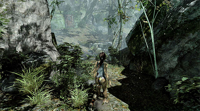 Take the path leading north and get to the central area of the forest - Search for Food | 4: Woman Versus Wild Walkthrough - 4: Woman Versus Wild | Walkthrough - Tomb Raider Game Guide
