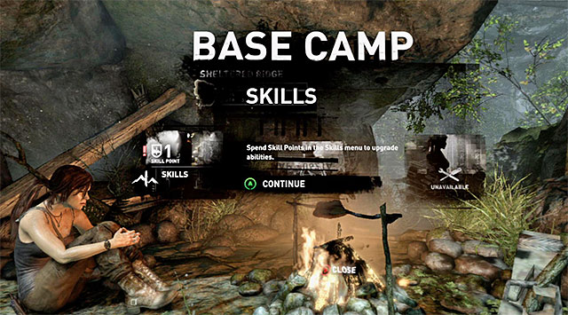 At base camp, interact with the campfire - Return to Camp with the Meat | 4: Woman Versus Wild Walkthrough - 4: Woman Versus Wild | Walkthrough - Tomb Raider Game Guide