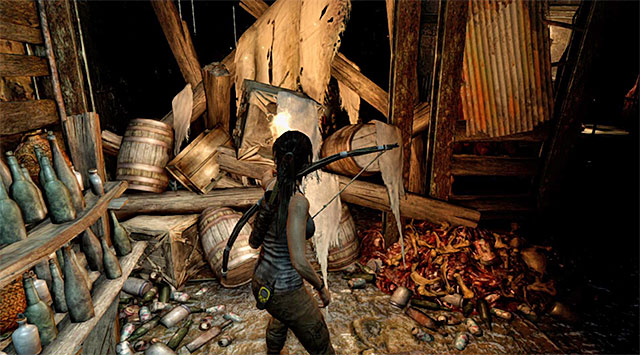Check out the area left of the main entrance and use the torch to ignite some debris; youll unlock a way into a sideway section - Explore the Bunker | 5: Just Keep Moving Walkthrough - 5: Just Keep Moving | Walkthrough - Tomb Raider Game Guide