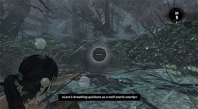 Dont even try moving away from where youre standing, just focus on the coming of the first of three wolves - Survive the Wolf Attack | 5: Just Keep Moving Walkthrough - 5: Just Keep Moving | Walkthrough - Tomb Raider Game Guide