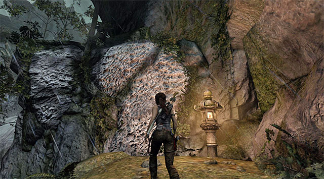 Go right, over the wing - Reach the Top of the Falls - 8: Cry for Help - Tomb Raider - Game Guide and Walkthrough