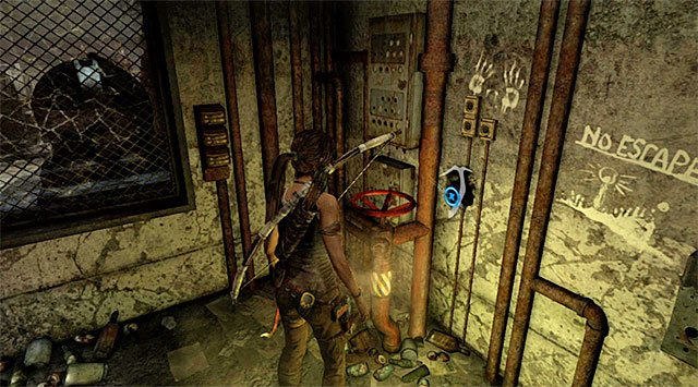 Approach and interact with the valve - Find the Communication Console - 8: Cry for Help - Tomb Raider - Game Guide and Walkthrough