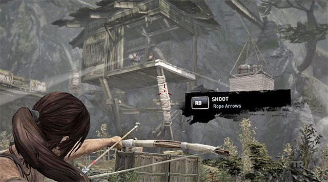 Setting free will allow Lara to acquire Rope, which youll be able to combine with the bow and arrows - Regroup with Roth | 9: A Road Less Traveled Walkthrough - 9: A Road Less Traveled | Walkthrough - Tomb Raider Game Guide