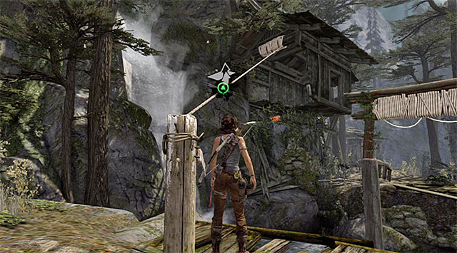 In the next location, the game will trigger a tutorial that will show you how to use the rope to make rope bridges - Regroup with Roth | 9: A Road Less Traveled Walkthrough - 9: A Road Less Traveled | Walkthrough - Tomb Raider Game Guide