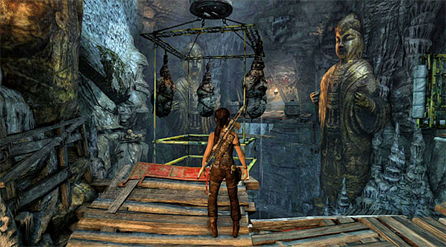 Stand in front of the platform with three cocoons - Tomb of the Unworthy | Optional Tombs: Mountain Village - Mountain Village | Optional Tombs - Tomb Raider Game Guide