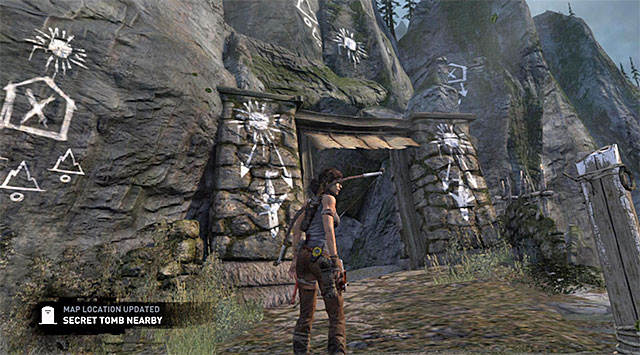 Use it, then go down the path leading north-east - Hall of Ascension | Optional Tombs: Mountain Village - Mountain Village | Optional Tombs - Tomb Raider Game Guide