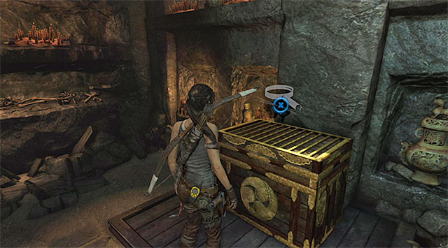 Go further east; after a while you'll stumble across a large treasure crate - Hall of Ascension - Optional Tombs: Mountain Village - Tomb Raider - Game Guide and Walkthrough