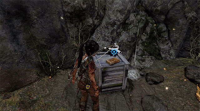 Take the Document off the crate inside (reward: 25 XP) - Documents | Collectibles: Mountain Temple - Collectibles: Mountain Temple - Tomb Raider Game Guide