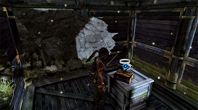 Slip through the crack in the wall and look around for the Fan (reward: 25 XP) - Relics | Collectibles: Mountain Temple - Collectibles: Mountain Temple - Tomb Raider Game Guide