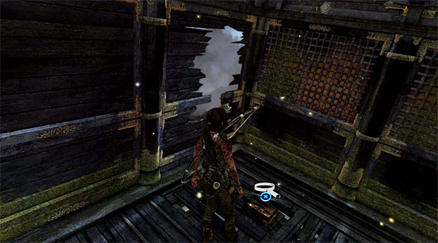 Walk along the ledge until you can climb the rooftop of the building - Relics | Collectibles: Mountain Temple - Collectibles: Mountain Temple - Tomb Raider Game Guide