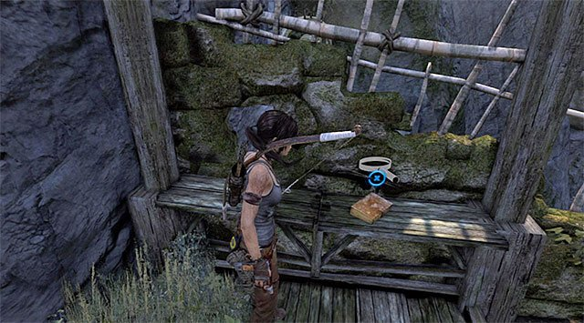 Examine it to find the Document on the bench (reward: 25 XP) - Documents | Collectibles: Mountain Village - Collectibles: Mountain Village - Tomb Raider Game Guide
