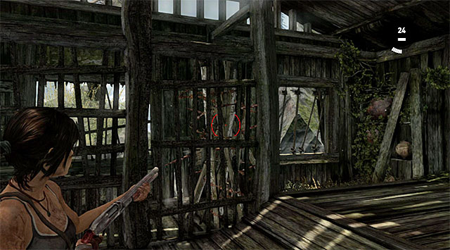 You can reach it only on your way back from the monastery, when you acquire the shotgun, because you need to blast through the door - Documents | Collectibles: Mountain Village - Collectibles: Mountain Village - Tomb Raider Game Guide
