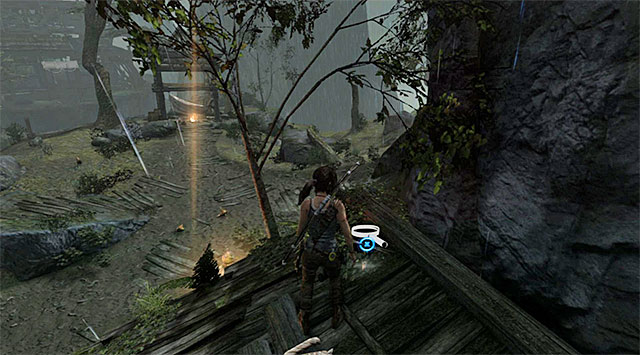 Turn left and jump to the roof - GPS Caches (01-07) | Collectibles: Mountain Village - Collectibles: Mountain Village - Tomb Raider Game Guide