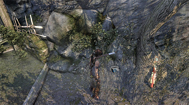 Jump over to the north-eastern ledge - GPS Caches (08-15) | Collectibles: Mountain Village - Collectibles: Mountain Village - Tomb Raider Game Guide