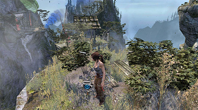 Search the ground, the Cache has been hidden in the grass (reward: 5 XP) - GPS Caches (08-15) | Collectibles: Mountain Village - Collectibles: Mountain Village - Tomb Raider Game Guide