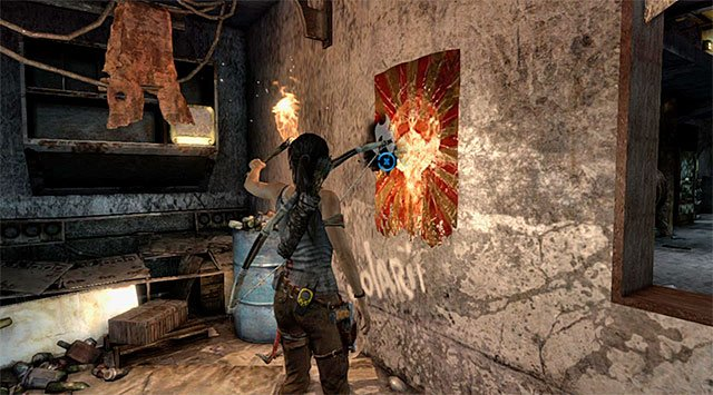 NON-BELIEVER BANNER 4/5 - Non-believer Banners - Collectibles: Mountain Base - Tomb Raider - Game Guide and Walkthrough