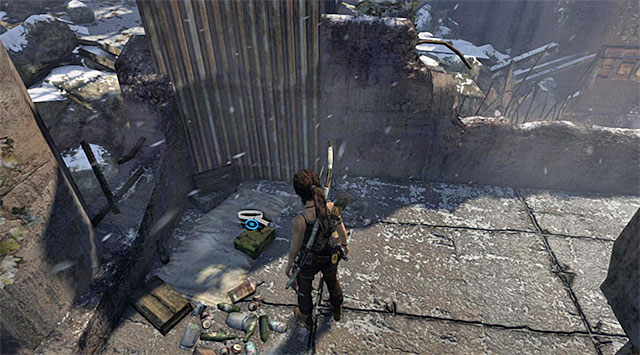 Youll find the Dogtags in a corner (reward: 25 XP) - Relics | Collectibles: Base Exterior - Collectibles: Base Exterior - Tomb Raider Game Guide