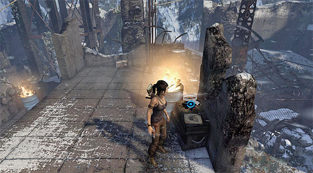 Slide down to land on the roof - Treasure Maps | Collectibles: Base Exterior - Collectibles: Base Exterior - Tomb Raider Game Guide