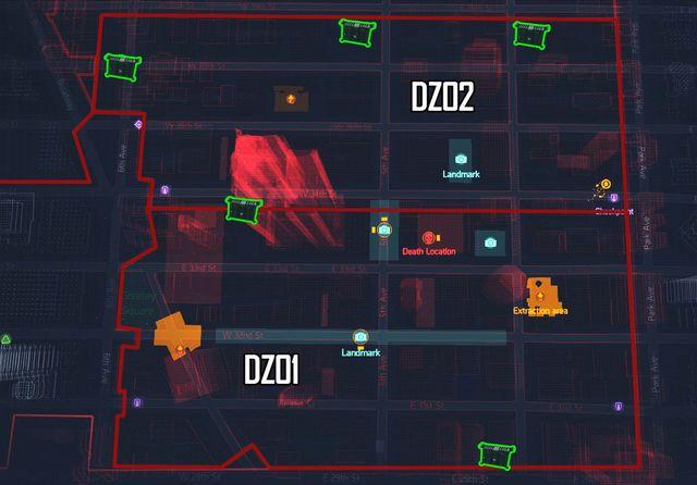 Dark Zone Chest  map  Intel data  Tom Clancys The Division