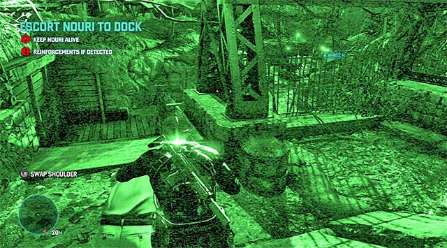 Passage to an area with further enemies - Escort Nouri - Mission 4 - Private Estate - Tom Clancys Splinter Cell: Blacklist - Game Guide and Walkthrough