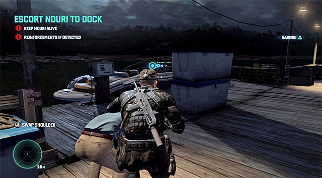 A boat - Escort Nouri - Mission 4 - Private Estate - Tom Clancys Splinter Cell: Blacklist - Game Guide and Walkthrough