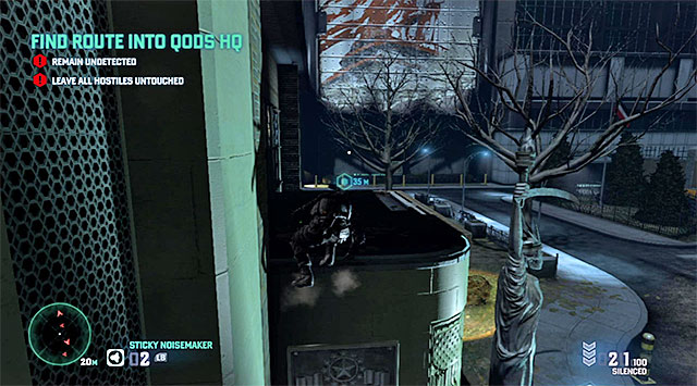 The second part of the roof - Find route into Quods HQ - Mission 6 - Special Missions HQ - Tom Clancys Splinter Cell: Blacklist - Game Guide and Walkthrough