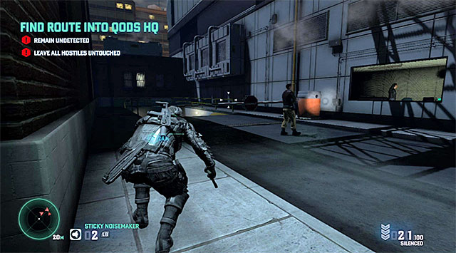 An ideal moment to squeeze past the guard - Find route into Quods HQ - Mission 6 - Special Missions HQ - Tom Clancys Splinter Cell: Blacklist - Game Guide and Walkthrough