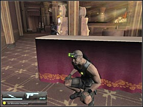 Your main goal here will be to reach an opposite end of the casino, because that's where a small security room is located - Mission 7.1 [Cozumel - Cruise Ship] - Walkthrough - Tom Clancys Splinter Cell: Double Agent - Game Guide and Walkthrough