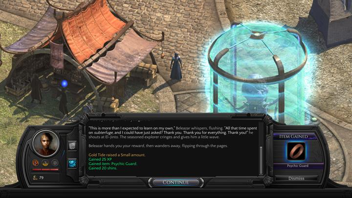 Its not worth it to seek punishment for Beleazar. - Beleazar and the Beast - side quest walkthrough | Circus Minor - Sagus Cliffs: Circus Minor - Torment: Tides of Numenera Game Guide