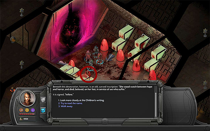 Use the code to access the tomb - Endless Horror - side quest walkthrough | Valley of Dead Heroes - Valley of Dead Heroes - Torment: Tides of Numenera Game Guide