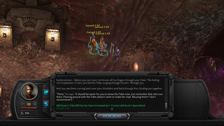 A conversation with Kwherezimian - The man can be found in Small Nihilesh (M19 - Places where you can unlock permanent stat bonuses | Adventurers Guide - Adventurers Guide - Torment: Tides of Numenera Game Guide
