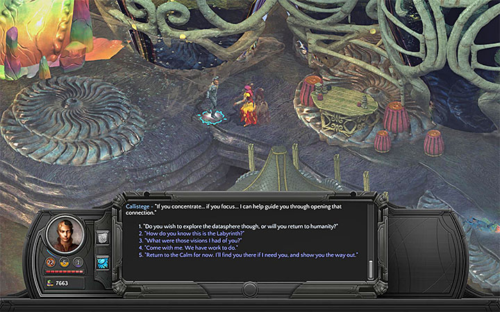 Speak about the datasphere during the meeting with Callistege - All Torment: Tides of Numenera Achievements / Trophies - Strategy Guide - Torment: Tides of Numenera Game Guide