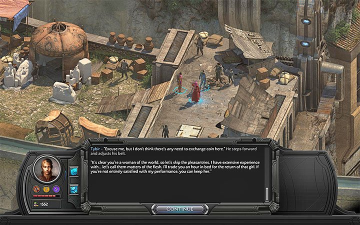 Tybir should join the conversation once you choose to rebuy Rhin - All Torment: Tides of Numenera Achievements / Trophies - Strategy Guide - Torment: Tides of Numenera Game Guide