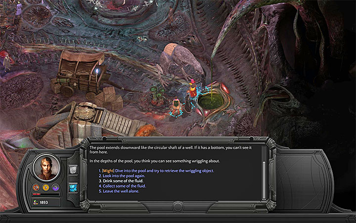You can drink the Bloom Juice for example on Memoviras Courtyard - All Torment: Tides of Numenera Achievements / Trophies - Strategy Guide - Torment: Tides of Numenera Game Guide