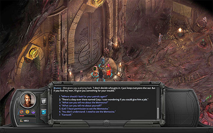 Ask Brusca to hire Coty - All Torment: Tides of Numenera Achievements / Trophies - Strategy Guide - Torment: Tides of Numenera Game Guide