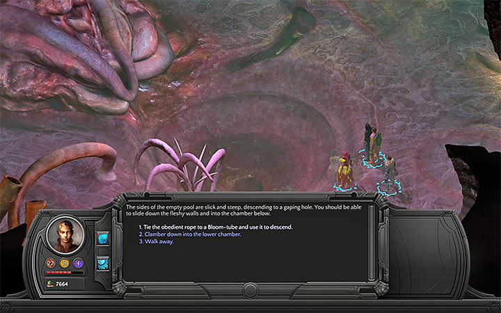 You have to empty the container with the whirlpool - Into the Depths - main quest walkthrough | Bloom Heart - Bloom: Bloom Heart - Torment: Tides of Numenera Game Guide