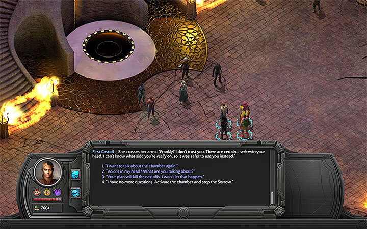 You can attack the First Castoff or you can let her activate the resonance chamber - Into the Depths - main quest walkthrough | Bloom Heart - Bloom: Bloom Heart - Torment: Tides of Numenera Game Guide